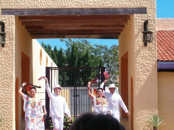 Mayan Dancers at a Hacienda Outside Progreso, Mexico