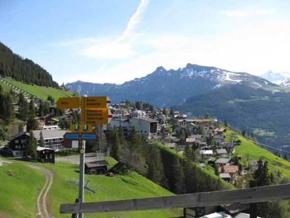 View of Murren, Swiss Alps