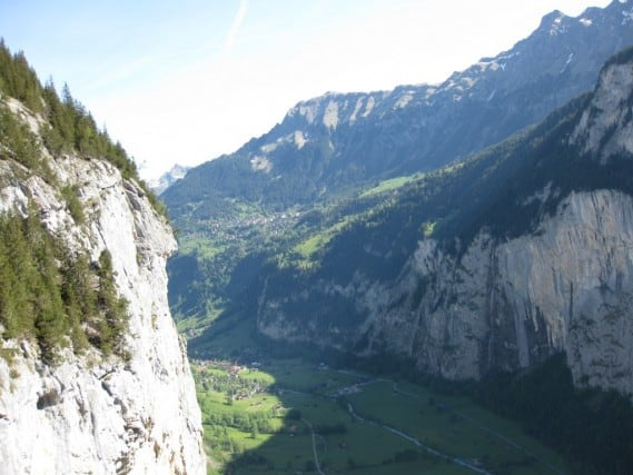 Looking down into the Lauterbrunnen Valley, Switzerland