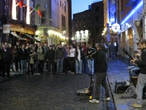 Great live music on the streets of Dublin