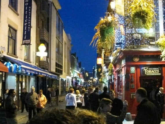 Temple Bar - a hopping part of Dublin