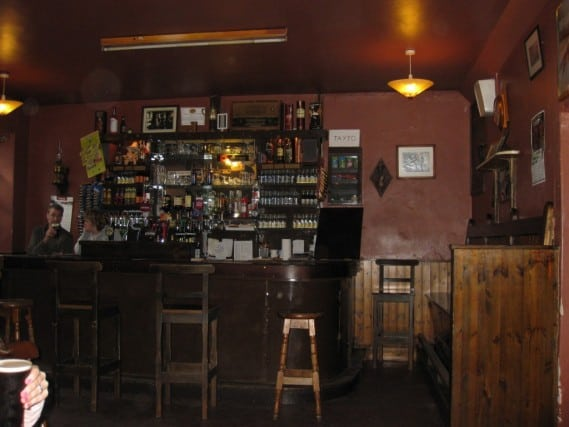 Inside Crowley's Bar - Sheila at the bar
