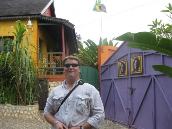 Entrance to Bob Marley's Resting Place