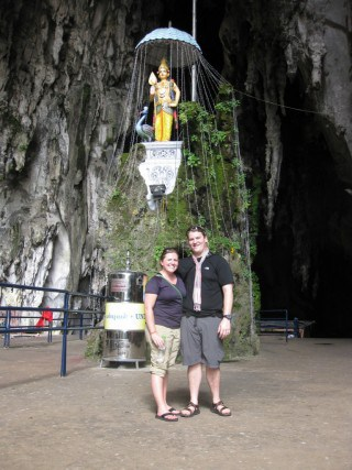 Made it to the top of all those stairs! Batu Caves