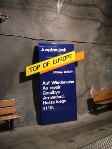 Made it to the top of the Jungfrau!  Jungfraujoch - the highest train station in Europe