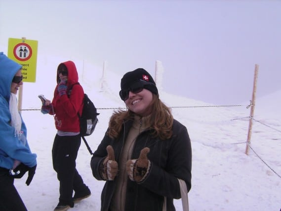 At the top of the Jungfrau - very snowy!