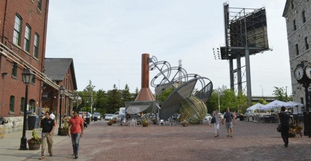 More cool sculptures in the Distillery District, Toronto Canada