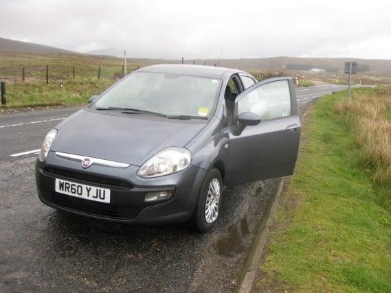 Rental car, Scotland highlands road trip, Europe