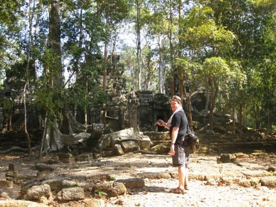 Geocaching Cambodia – Angkor Wat (Temple of Butterflies)