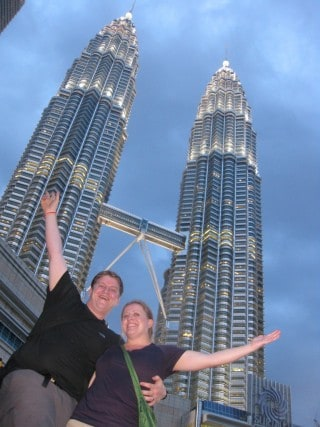 In front of the Petronas Towers, KL