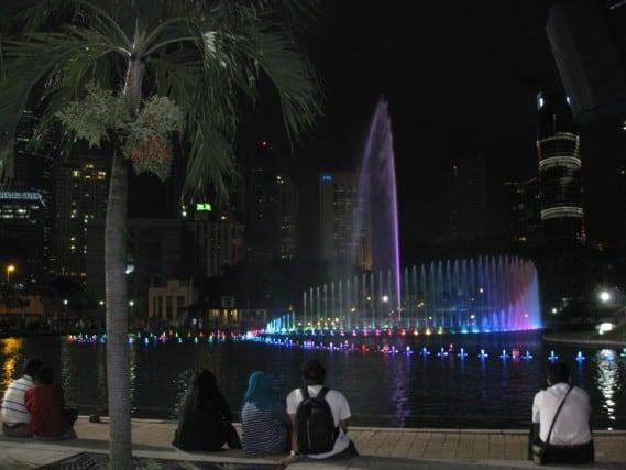 Petronas towers, water show, Suria KLCC, Kuala Lumpur, Malaysia, KL