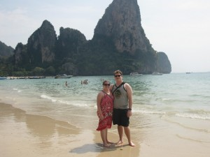 railay beach thailand, krabi, railay beach west, beach vacation, peanuts or pretzels travel blog