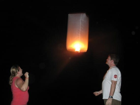Thai wish lantern, Railay Beach, Thailand, Krabi, Asia, best beaches in thailand