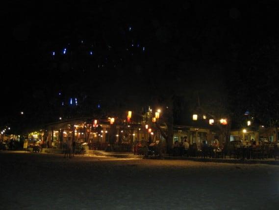railay beach west, thailand, restaurants, hotels, krabi, dine under the stars, peanuts or pretzels travel blog