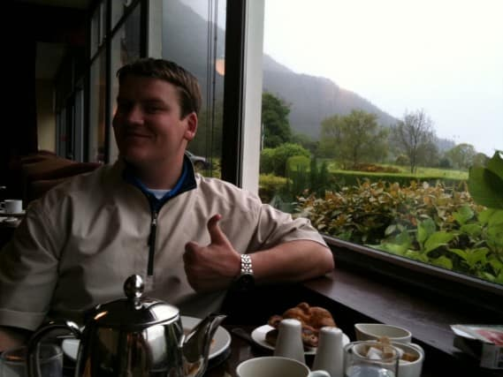 Breakfast View from Ballachulish Hotel Restaurant over Loch Leven