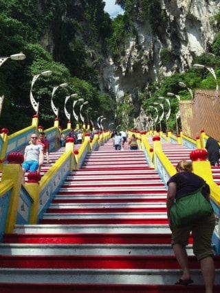 Kuala Lumpur, Malaysia, KL, Batu Caves entrance, stairs