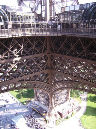 stairs up the eiffel tower, eiffel tower, paris, France, must do in Paris