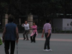 hong kong tai chi, tai chi in the morning, hong kong asia tai chi, morning tai chi, fun travel, hong kong asia culture, peanuts or pretzels travel blog