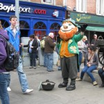 Geocaching while sightseeing in Dublin, Ireland