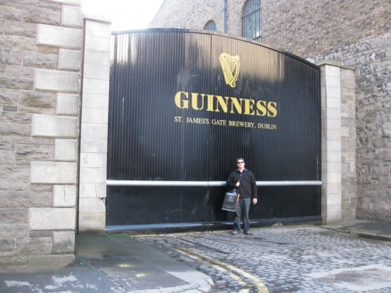 geocache at guinness storehouse in dublin, geocaching in dublin, st. James gate Guinness storehouse