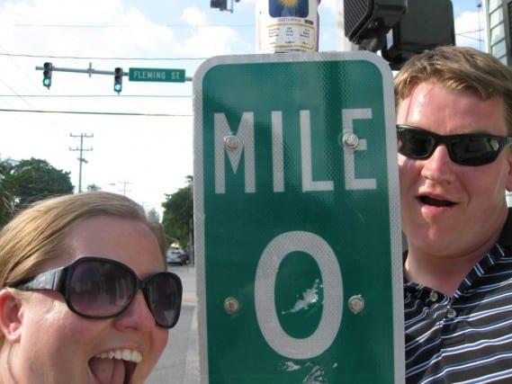 mile marker zero, mile marker 0, key west florida, end of the highway, vacation, road trip, peanuts or pretzels travel blog