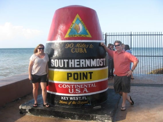 southernmost point in continental US, key west florida, driving to key west from miami