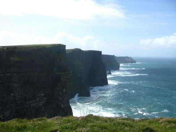 Enjoying the Cliffs of Moher, Ireland