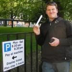 """Borrowing"" WiFi to go Geocaching in Edinburgh – Scotland"