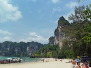 Geocaching, Thailand, Tonsai Beach, Railay Beach, low tide, high tide, Krabi, Mountainsmith, adventure, vacation, long tail boats, coral,