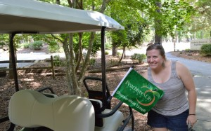 Peachtree City, GA, Geocaching, Geocache, golf carts, trails, lake, chamber of commerce, Peanuts or Pretzels, blog, movies