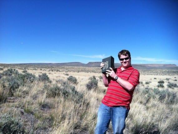 Caching in the desert Jackpot, Nevada