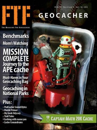 FTF Geocaching Magazine, where we've been published, peanuts or pretzels geocaching, geocaching stories, geocaching blog, what's in your geocaching bag, must haves in your geocaching bag