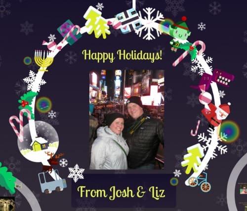 Holiday Video Card – 2013 Travel Recap From Josh & Liz