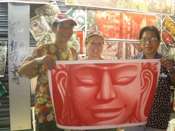travel art, artwork from traveling, best travel souvenir, art as souvenir, buying souvenirs, thailand art, bangkok souvenir