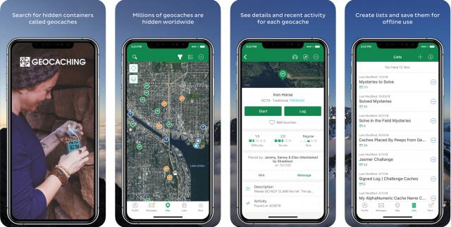geocaching app, geocaching profile