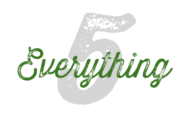 everything 5, list of 5, 5 things to do, list posts