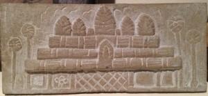 Up close look at our Angkor Wat stone carving. travel art, cambodia art, travel souvenir