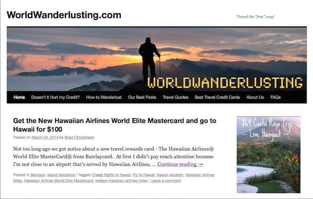 world of wanderlusting