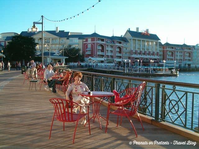 Enjoying the ambiance at Disney's Boardwalk Resort