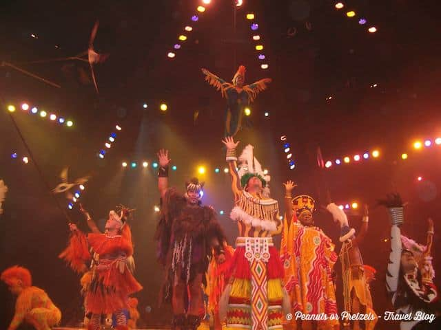 The Legend of the Lion King show at Animal Kingdom is a must see!