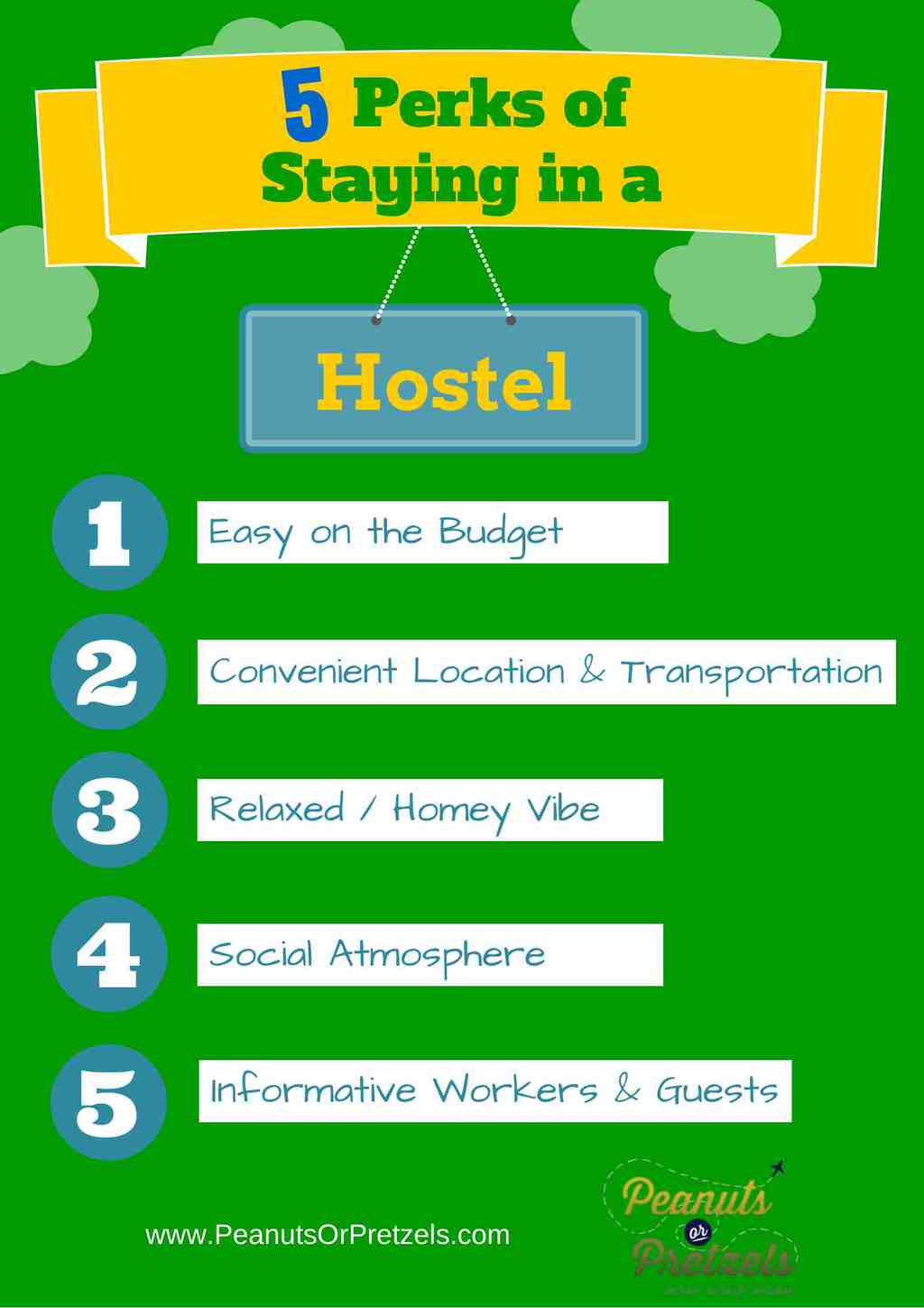 why stay at a hostel infographic