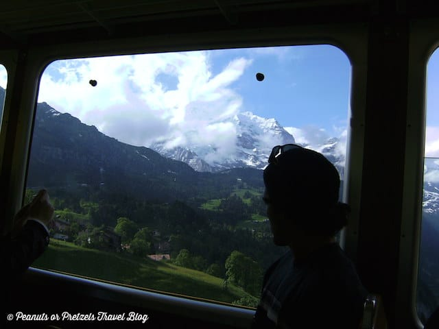 jungfraujoch, best train ride in europe, scenic train rides, jungfrau mountain train, swiss alps train, peanuts or pretzels, travel blog