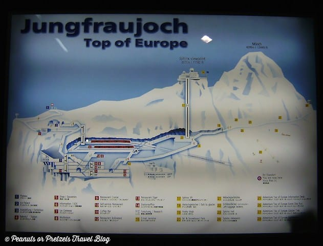 jungfraujoch, top of europe, jungfrau train, train rides in switzerland, scenic train rides, peanuts or pretzels, travel blog