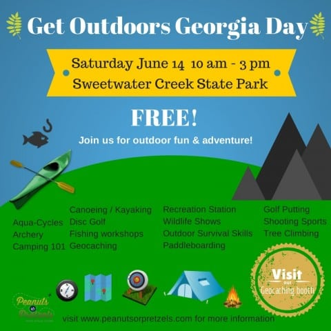 Get Outdoors Georgia Day – Saturday June 14 at Sweetwater Creek State Park