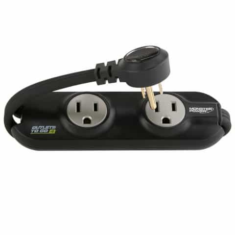 compact travel power strip, a good reminder on our international travel checklist to bring with you
