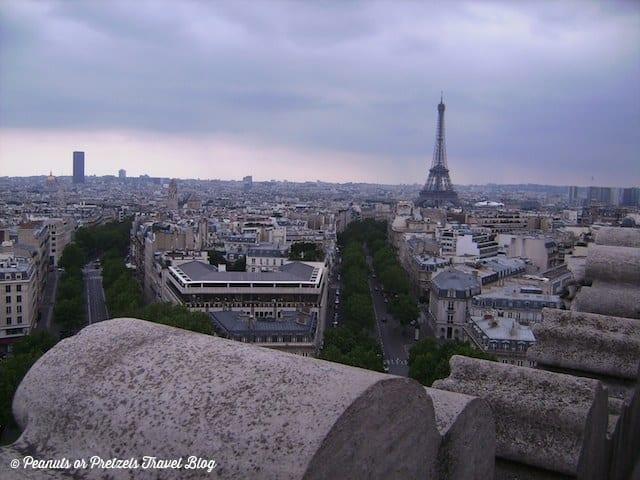 view of paris, eiffel tower paris, arc de triumph, champs elysees, things to do in paris, a day in paris