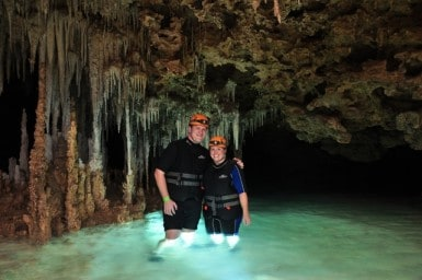 Discovering an EarthCache while exploring this underground river in Mexico, renting a car in cancun