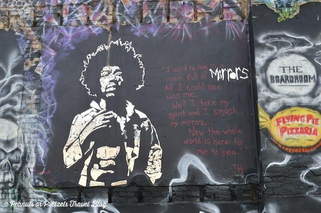 Exploring artwork in Graffiti Alley in Boise, Idaho