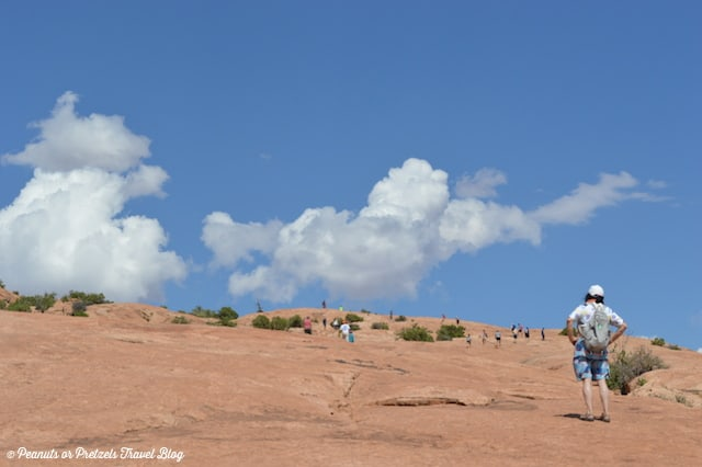 People walking in Arches National Park