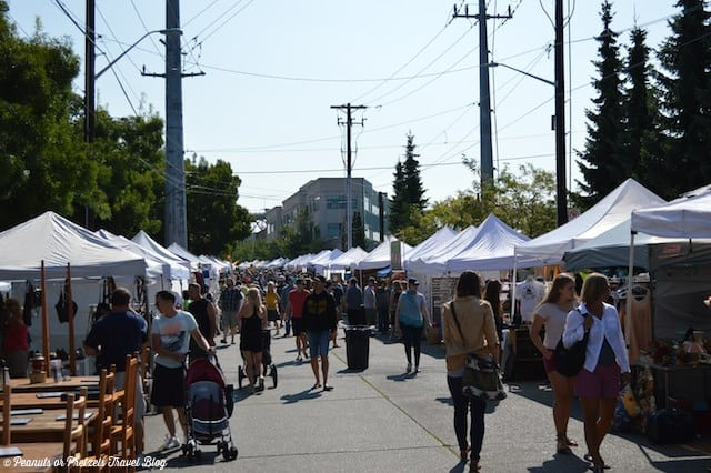 Strolling through the Fremont Sunday Market.